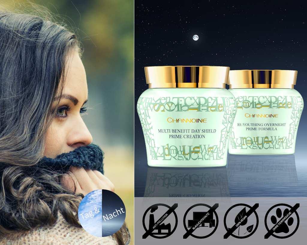 Exklusive Hautpflege mit der veganen Tagespflege und Nachtpflege