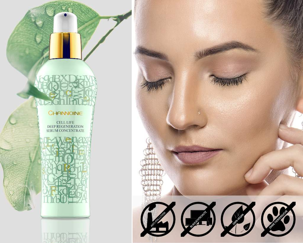 Exklusive vegane Hautpflege mit Tiefenserum