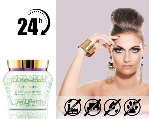 Mit der veganen 24h-Creme von Channoine ist Ihre Haut am Tag und in der Nacht bestens versorgt.